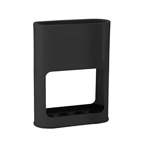 Portaombrelli per corridoio/esterno/interno con sgocciolatoio, per ombrelli lunghi/corti e bastoni da passeggio, nero , 21.5 * 8 * 28 cm/8.5 * 3 * 11 inch