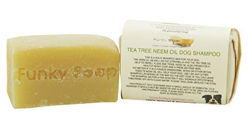 1 pc Tea Tree & Neem Oil Dog Shampoo 100% Natural Handmade 120g