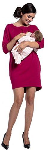 Zeta Ville - Still Sweatshirtkleid Schwangere Rundhalsausschnitt - Damen - 038c Purpur