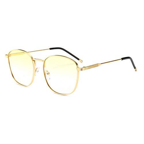 Siwen Gold Square Sonnenbrille Männer Full Metal Frame Sonnenbrille für Frauen Unisex Sommer,4 -