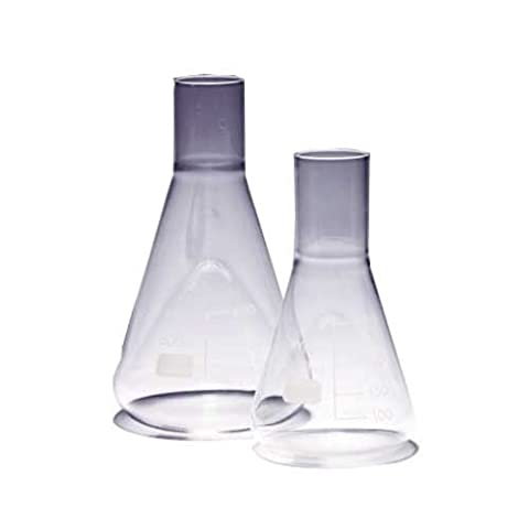 Pyrex 1135/26D Fläschchen, Glas Kultur Fläschchen, 1000ml (2Stück) (Pyrex Erlenmeyerkolben)