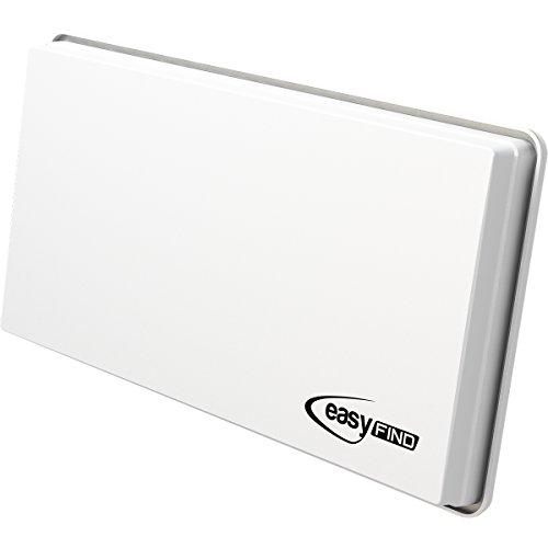 EasyFind H30 D4+ SAT Flachantenne für vier Teilnehmer (inkl. Fensterhalterung, Wandhalterung, Masthalterung und Standfuß)