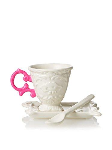 'Set de Caffe' en porcelaine I-Wares avec poignée – Fuchsia