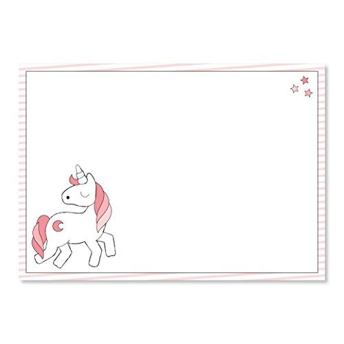1 Schreibtisch-Unterlage mit Einhorn-Motiv I dv_016 I DIN A3 I 40 Blatt I Malblock Papier rosa für Mädchen Klein-Kinder zum Abreißen - Kinder-blöcke