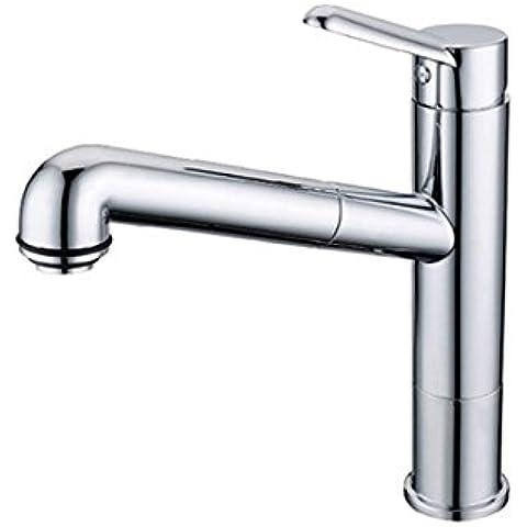 Best moderno commerciale acciaio inox manico singolo in nichel spazzolato Pull Out Spray lavello rubinetto da cucina a S, Pull Down Kitchen Sink Faucet