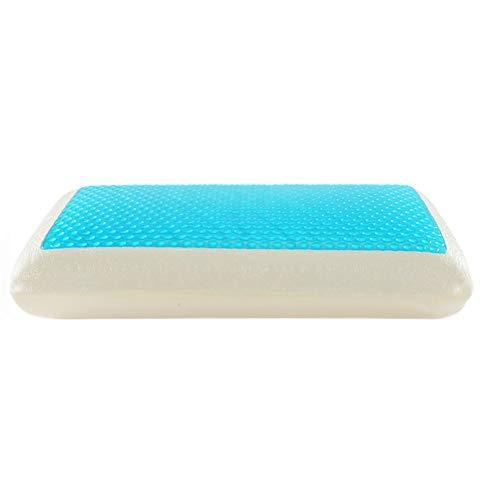 HUIHUAN Space Memory Pillow Klassisches kühles, schlafbelüftetes Gel-Memory-Foam-Kissen mit Seitenfalten. Waschbar für Zuhause und für Hotels -