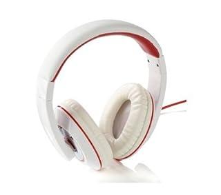 Over Ear Headphones - Dynamic Sound - Bass - Extra Comfort - (White Red Trim) (B00AFWLHWI) | Amazon price tracker / tracking, Amazon price history charts, Amazon price watches, Amazon price drop alerts