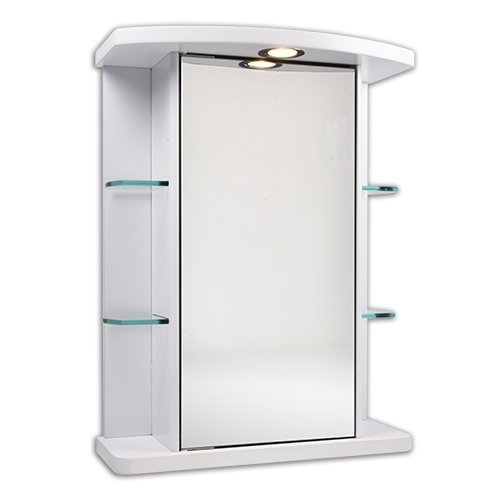 500*660mm White Water Resistant Mirror Cabinet with Light