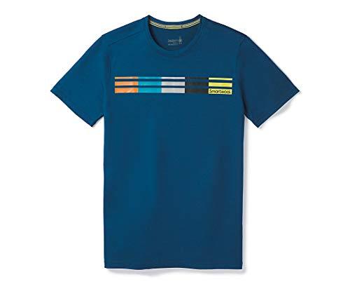 Smartwool Herren Merino Sport 150 Flag Logo Tee T-Shirt, Alpine Blue, M