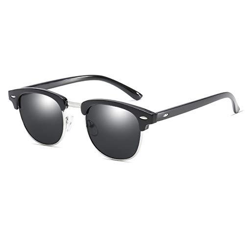 YLNJYJ Sonnenbrillen Marke Klassische Club Männer Platz Sonnenbrille Frauen Vintage Spiegel Shades Niet Halbrand Sonnenbrille Für Weiblich Männlich