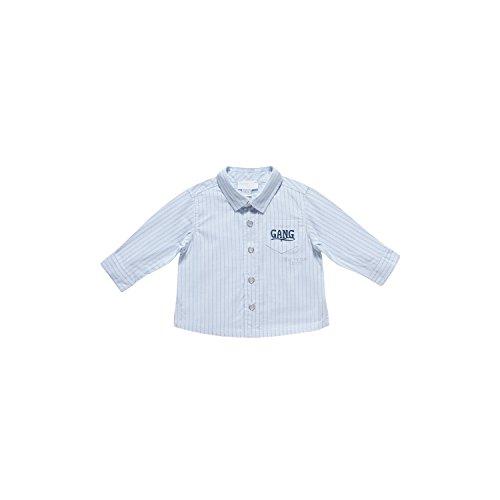 Camicia m/l cotone tinto filo (68 cm)