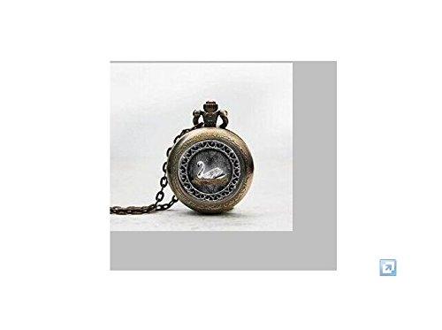 White Swan Emma Anhänger Taschenuhr, Swan Once Upon A Time inspiriert Halskette Taschenuhr Charme, Swan Once Upon A Time inspiriert Anhänger Taschenuhr Glass Tile Schmuck, Glas Swan Once Upon A Time Armbanduhr inspiriert, Swan Once Upon A Time inspiriert Foto (Uhr Once Upon A Time)