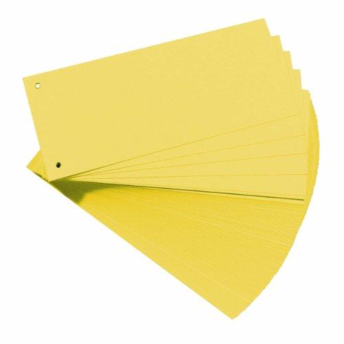 Herlitz 10843613 Trennstreifen, 100-er Packung, Gelb