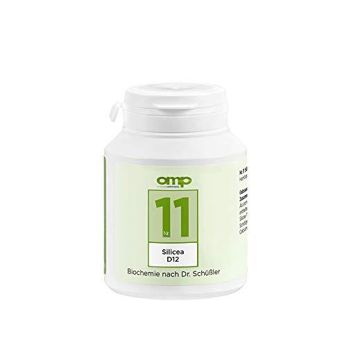 Schüssler Salz Nr. 11 - Silicea D12   400 Tabletten   Das Salz der Haare, der Haut und des Bindegewebes   glutenfrei