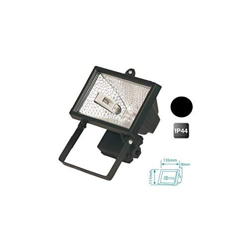 Evila - Foco halogeno+lámpara 150w ip44 negro
