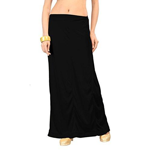 Ziya Black Pure Satin Petticoat