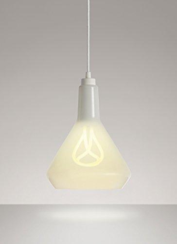 Plumen, mit Lampe, weiß