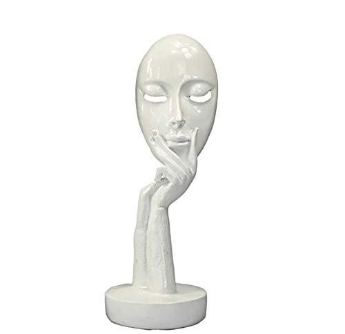 ZHZX Moderne Skulptur, eine denkende Frau mit ihrem Kinn auf Seiner Hand abstrakte Resin Statue Dekoration, für Innenraum, 38cm hoch