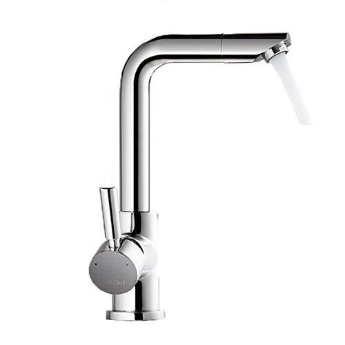 LIANGJING Bad Wasserhahn warmes und kaltes Waschbecken unter der Armatur Bad Waschbecken 360 ° drehbarer Wasserhahn