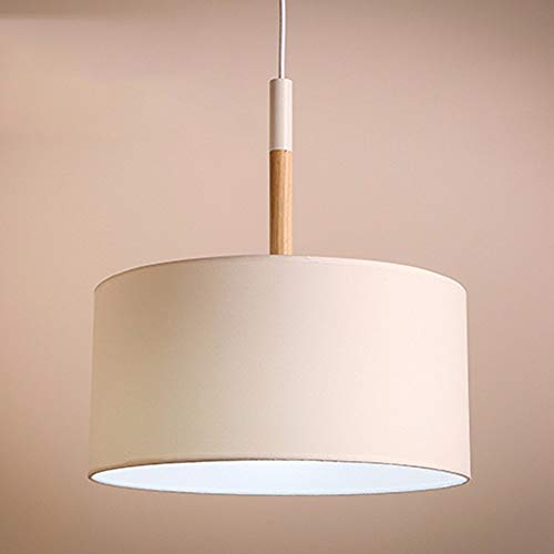 Xiao Fan ▶ * Pendelleuchte Kronleuchter Vintage Shabby Modernes Schlafzimmer Bett Restaurant Kreis Warme Tuch Lampenschirm Lampen, Weiß Weiß 40 * 46 cm ◀ -