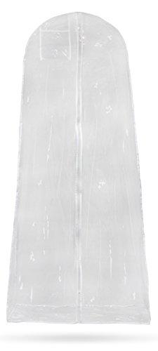 Kleiderhülle für Ball- & Brautkleider - Transparent 173 x 76 x 18 cm - Kleidersack Schutz &...