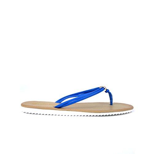 Cendriyon, Tong bleue Multibrides ELISA Chaussures Femme Bleu