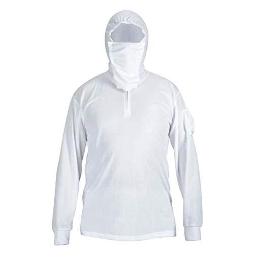 Teekit Hombre Mujer Camisas de Pesca Sun UV Protectora de Manga Larga de Secado rápido con Capucha Transpirable