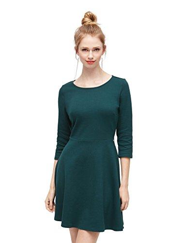 TOM TAILOR DENIM für Frauen Kleider & Jumpsuits schlichtes Skaterkleid deep green lake L