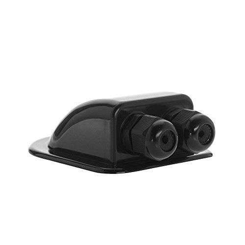 La gravedad de la versión de 2compartimento cable aplicación en la azotea. color negro, fabricado de resistente plástico ABS y equipado con una rosca IP68. la Orificios están diseñados para el uso en el ámbito de la telefonía móvil en automóviles, v...