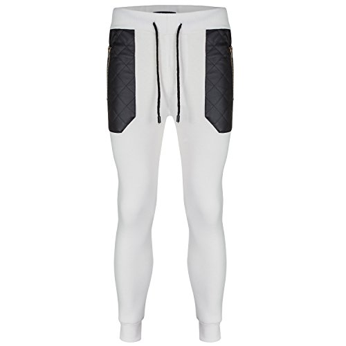SoulStar -  Pantaloni sportivi  - Attillata  - Basic - Uomo Ecru