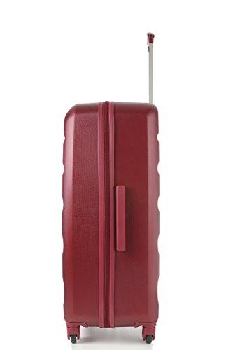Aerolite Große Leichtgewicht ABS Hartschale 4 Rollen Trolley Koffer Reisekoffer Hartschalenkoffer Rollkoffer Gepäck , 79cm , Wein - 4