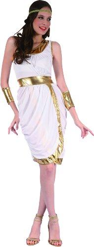 Damenkostüm Antike weiss-gold Einheitsgröße (Griechische Göttin Kostüm Kopfschmuck)