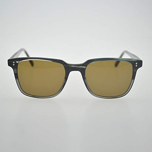 LKVNHP Hochwertige Rechteck Sonnenbrille Marke Polarisierte Sonnenbrille Männer Sonnenbrille Oculos De Sol Masculino Feminino Brillen Oculos De SolSchwarz Grau Vs Braun