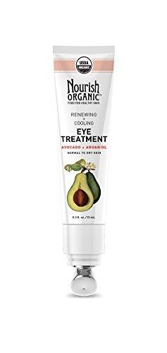 Renouveler + refroidissement Traitement pour les yeux, lavocat + Huile dArgan - Nourish organique