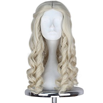 Miss U Hair Women Girl's White Long Blonde -