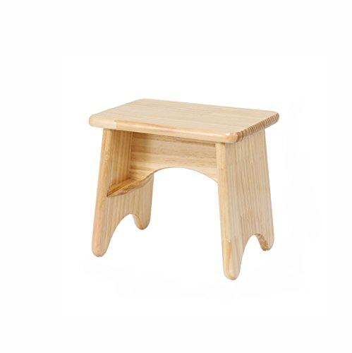 DK-CJBYC Dusche-Schemel-Schemel-Wohnzimmer-Feste Holz-Bank-Kind-Schemel, die Hölzerne Schemel kreativer Kleiner Quadratischer Schemel Treten (Größe : 25cm) (25 Hohen Hölzernen Sitz)