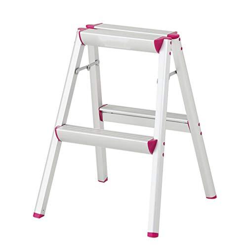 CHenXy Trittleiter - 2-Stufen-Leiter Stuhl Pedal Haushalt Klapp Klappleiter Hocker rutschfeste Multi-Funktions-Treppe Klettern Leiter Leiter (Leiter Multi-funktion)