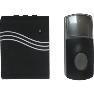 IDK CAR-110 Carillon sans fil polyvalent avec mode vibreur 100 m de portée Noir