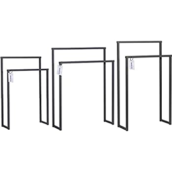 HOLZBRINK Metall Handtuchhalter f/ür Badezimmer Kleiderst/änder Freistehender Handtuchst/änder mit 2 Stangen HxBxT HLMH-01-86-70-9016 86x70x20 cm Verkehrsweiss