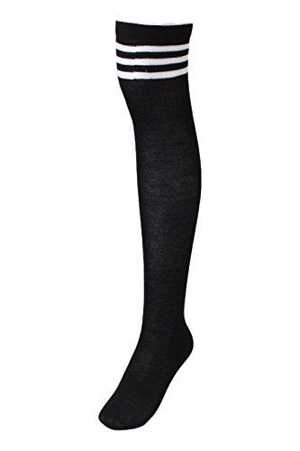 (Overknee 70 Über Knie-Lange cheerleader college strümpfe damen und kinder mit streifen elastisch fasching Kniestrümpfe socks damen)