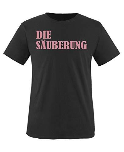 Comedy Shirts - Die Saeuberung - Mädchen T-Shirt - Schwarz/Rosa Gr. 98-104