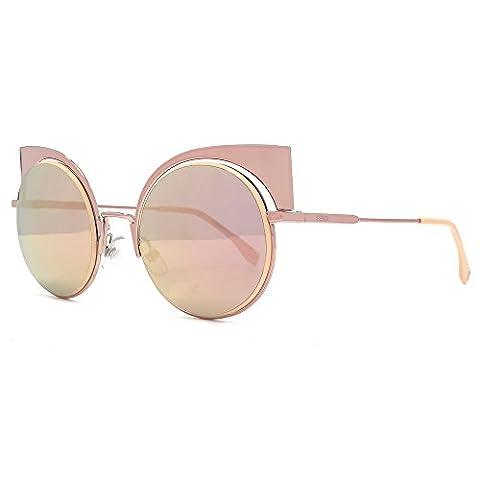 Fendi Eyeshine Cateye Sunglasses in Rose Gold FF 0177/S Z5D 53 53 Pink (Fendi Occhiali Da Sole)