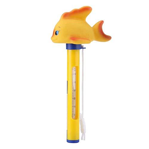 SparY Schwimmende Thermometer Schwimmbad Cartoon Tier Außen Multifunktion Werkzeuge Bade Wasser Zuhause Kinder Instrumente Temperatur Süß (Ente) - Wie Bild Show, Goldfish -