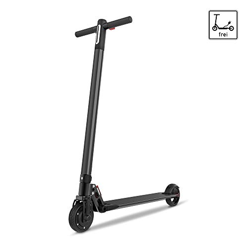 Smarthlon Elektroroller, Max. Geschwindigkeit 20 Km/h E-Scooter, 6 Zoll E-Roller Faltbarer mit Anzeige (Schwarz) 601-Schwarz