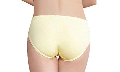 Feicuan Enceinte Culotte Femme Low Waist Underpants Soft Coton Sous-Vetement (Pack of 3) Purle,Yellow,Skin