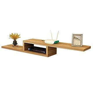 Set Top Box Regal Schwimmrahmen TV-Konsole Wandhalterung Legen Sie Einen DVD-Player EIN Mehrfarben Optional (Farbe : Holzfarbe, größe : 120 * 23 * 20cm)