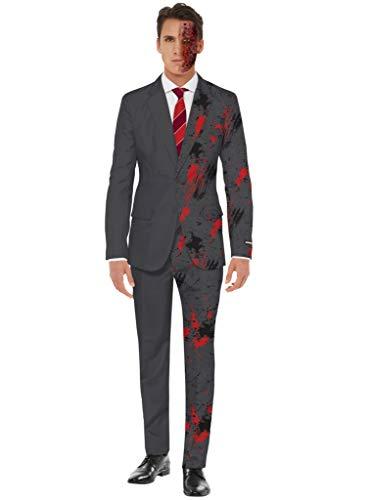 SuitMeister Two-Face Party Anzug - Größe: M - Karneval Halloween Kostüm für Herren