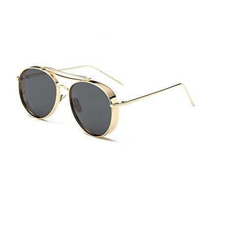 O-c, occhiali da sole, da donna, alla moda, polarizzati, 59mm oro gold frame, black lens
