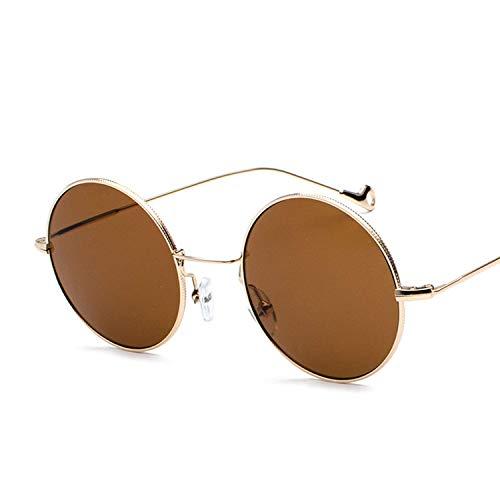 Sport-Sonnenbrillen, Vintage Sonnenbrillen, Round Sunglasses Women Fashion Round Clear Metal Sun Glasses Retro Vintage Sunglass Uv400
