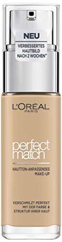 L\'Oréal Paris Perfect Match Foundation, flüssiges Make-Up, deckend und feuchtigkeitsspendend für einen natürlichen Teint - 3N creamy beige (30 ml)